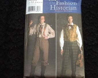 Simplicity pattern 5035. Uncut men's Civil War costume. Shirts and pants. Sizes 38-44.