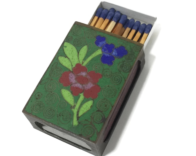 1920s Vintage Cloisonné Match Box Cover