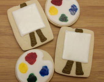 Paint Your Own Canvas Cookies_Edible Watercolor Cookies