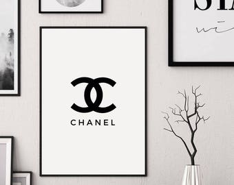 Coco Chanel Poster, Chanel Artwork, Chanel Sign, Coco Chanel Printable, Coco Chanel Print, Chanel Sign, Fashion Addict, Coco Chanel Logo