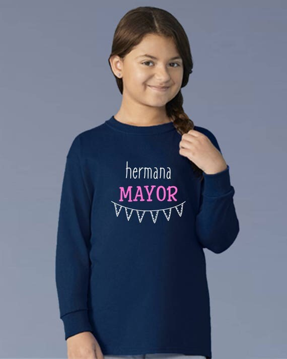 Boy/girl/baby t-shirt HERMANA MAYOR (Big Sister) or MENOR (Little sister)