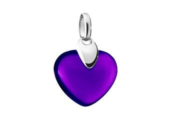 Heart pendant purple and gold