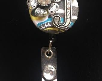 J Initially-Nurse Retractable ID Badge Reel/ RN Badge Holder/Doctor Badge Reel/Nurse Badge Holder/Nursing Student Gifts
