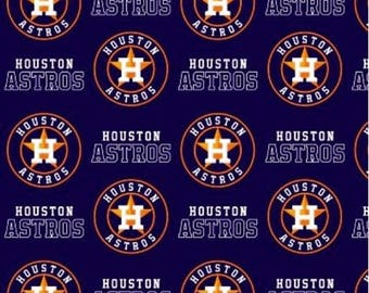 "Valance, Curtain Panel, Matching Pillow ""Houston Astros """