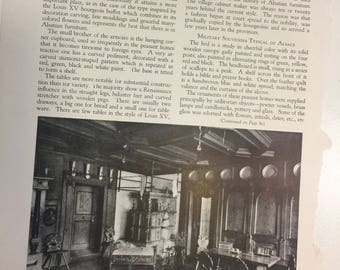 Peasant Furniture of Alsace Antiquarian MAGAZINE ARTICLE 1928