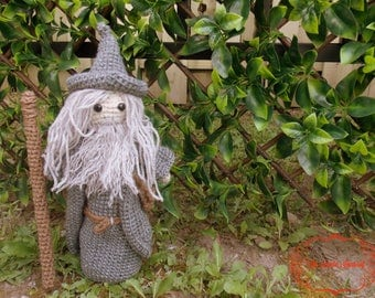 Gandalf The Grey Amigurumi. LOTR Crochet Plush. Made to Order.
