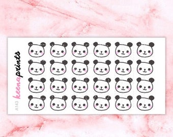 20% OFF A143   Panda Stickers - Daily Planner Stickers, Diary Stickers, Journal Stickers, Scrapbook stickers