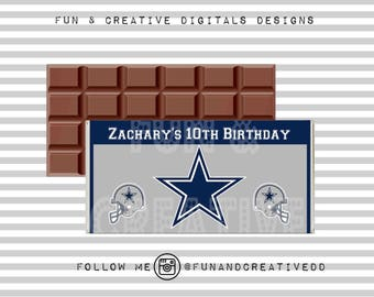 Cowboys Inspired Chocolate Wrapper