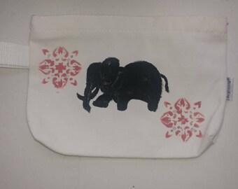 Elephant mandala cosmetic bag or pencil case