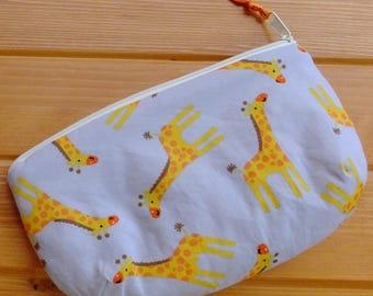 Giraffe print purse
