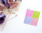 Summer Treats -- Faux Glitter Headers -- Matte Planner Stickers