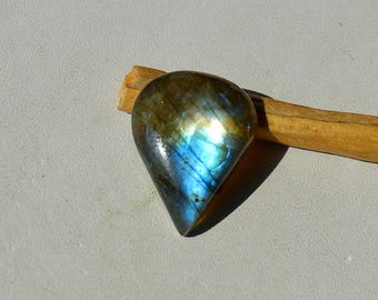 15 Cts Natural Blue Fire Labradorite Cabochon Both Side Polished Pear Shape Labradorite Loose Gemstone 22x17x6 MM R12464