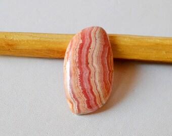 Natural Rhodochrosite 31.5 Cts Gemstone Loose Cabochon Pink Rhodochrosite Free Form Shape 32x17x5 MM R13314