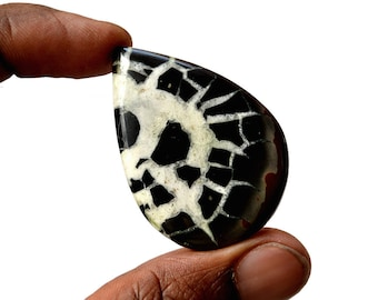 Septarian Large 80.5 Cts Natural  Top Quality Gemstone Cabochon Pear Shape 47x37x5.6 MM R14206