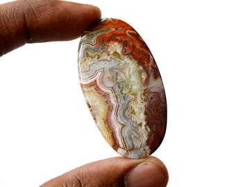 Crazy Lace Agate 53.5 Cts Natural Gemstone Cabochon Oval Shape Agate 48x26x5 MM R14865