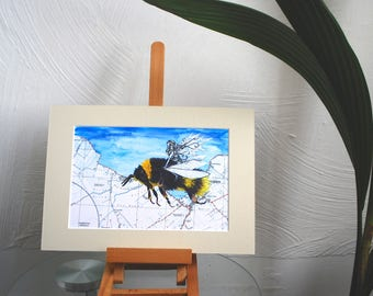 The Fairy and the Bee Print