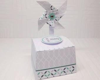 Customizable Dragées box with windmill