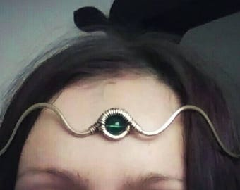 Brass Tiara, Head Jewelry, Woodland Elf Tiara Elven Jewelry For Head, Dainty jewelery Princess Tiara, Gold Diadem Elven Circlet, Fairy