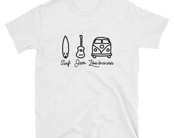 Surf, Jam, Live In A Van T-Shirt