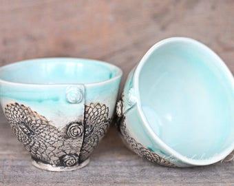Little vintage bowls in Sea Mist