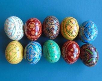 10 Painted Wooden Ukrainian Pysanka / Easter eggs / Pysanky #3