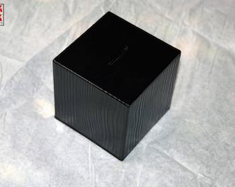 Black Pearl,Wooden piggy bank,coin,money box safe, Gifts for Children/Kids, Coin Slot