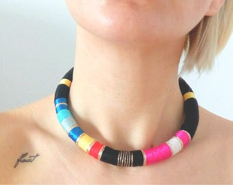 Tribal jewelry necklace Tribal necklace Rope Necklace African necklace Choker necklace African Choker African jewelry
