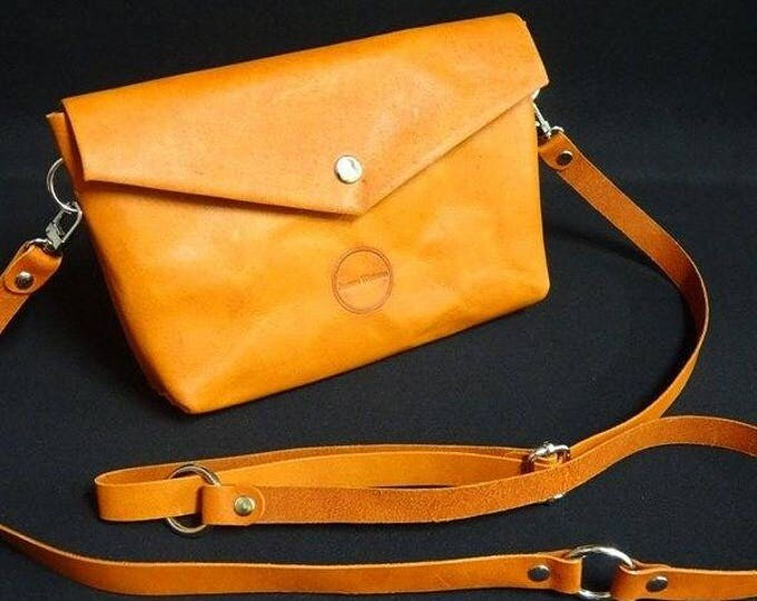 James Handbag - Whiskey Tan and Gloss White - Handmade Kangaroo Leather - James Watson