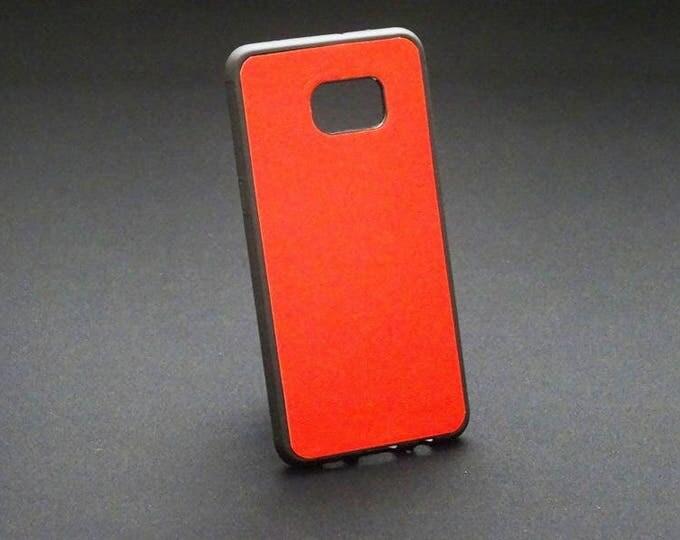 Samsung Galaxy S6 Edge Plus - Jimmy Case in Red - Kangaroo leather - Handmade - James Watson