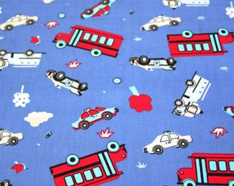 Blue cars and trucks coupon size 30 cm X 30 cm