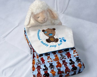Essential Teddy Poop Kit Nappy and Wipes Case
