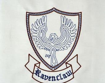Ravenclaw Crest minimalist machine embroidery design 5x7