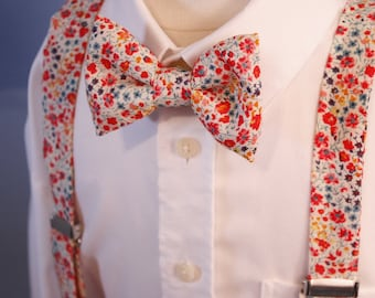 CUSTOMIZABLE bow tie straps liberty man Duo or another fabric