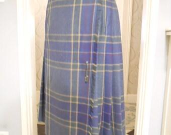 Ralph Lauren Tartan Kilt Skirt Scottish Tartan Skirt Pure New Wool. VVGC
