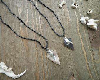 Arrow Head Necklace on Cord