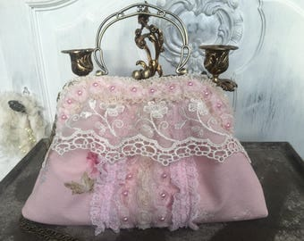 Bag, evening bag, dirndl bag, bag, Vintagebag, Shabbybag, bags