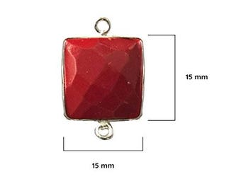 CORAL SQUARE 15 mm silver double q