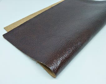 """Oil Leather Scrap, Genuine Leather, Leather Pieces, Dark Brown, Size 10"""" by 12""""  Leather Scrap for DIY Projects."""