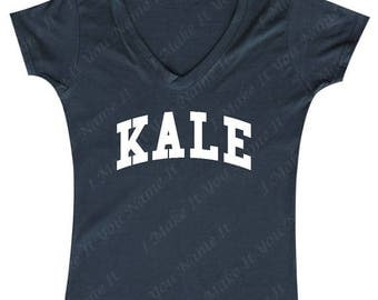 ON SALE - Kale (white) - Ladies' V-neck