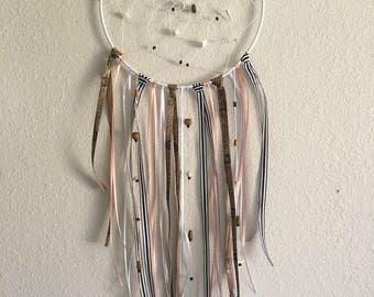 Peach dream catcher - dream catcher - stripe dream catcher - pretty dream catcher - boho dream catcher - dream catcher decor - boho decor