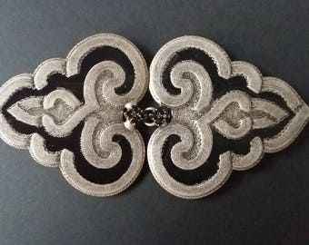 Belt buckle/black and silver buckle/ jewel buckle