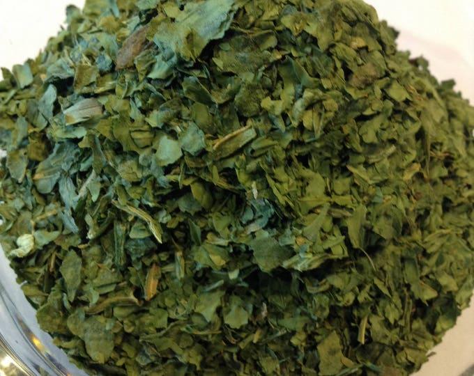 1/2-4 oz Spinach Flake Organic Air dried, No sulfites, No Additives, No Preservatives