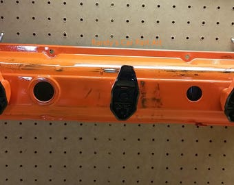 Orange Patina Coat Rack Valve Cover