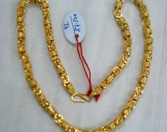 Vintage 22kt gold chain necklace handmade gold chain gold