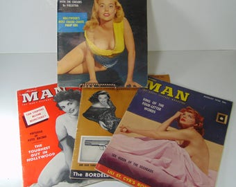 Lot of 4 Vintage Modern Man - The Adult Picture Magazine - February, May, August, October 1956