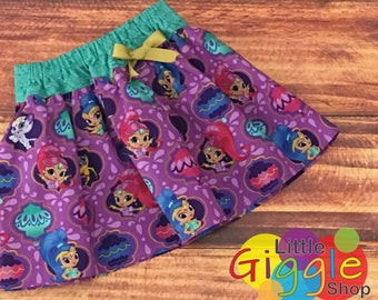 Shimmer and Shine Skirt, Shimmer and Shine, Shimmer and Shine Birthday, Shimmer and Shine Genies, Shimmer and Shine Outfit, Handmade