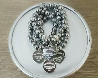 Designer Inspired Silver Charm Bracelet Set