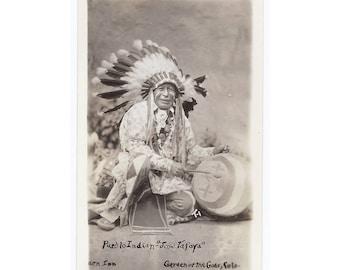 RPPC - Real Photo Postcard - Indian Jose Tafoya - Vintage Card
