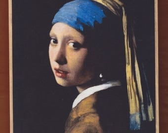 Girl with Pearl Earring,Johannes Vermeer.FREE SHIPPING.