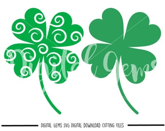 Clover, St Patricks Day, svg / dxf / eps / png files. Digital download. Compatible with Cricut and Silhouette machines. Commercial use ok.
